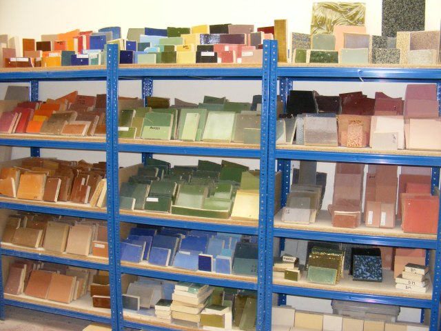 Shaws have a huge bank of glaze and clay colours to call upon, but ofetn the glaze will have to be engineered specifically